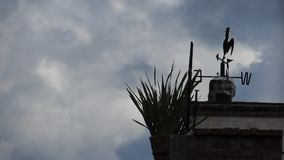 Weather Vane in Windy Conditions. With Fast Moving Clouds in the Background stock video