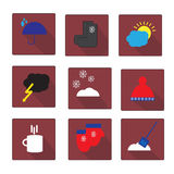 Weather vector icons Royalty Free Stock Photos