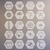 Weather Vector Icons Royalty Free Stock Photography