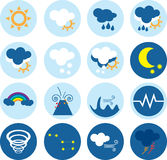 Weather vector icons Royalty Free Stock Images