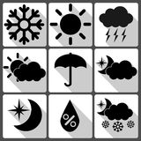 Weather Vector Icons On White Background With Royalty Free Stock Image