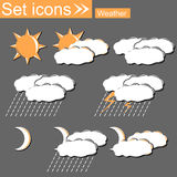 Weather, vector illustration Royalty Free Stock Photo