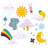 Weather vector set (no background) Royalty Free Stock Photo