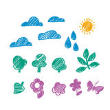 Weather vector sketch Royalty Free Stock Image