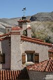 Weather Vane. Weather vein at Scottys Castle in Death Valley, CA vane Stock Image
