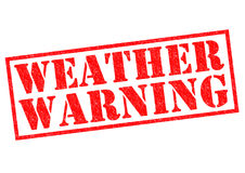 WEATHER WARNING Royalty Free Stock Photos