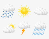 Weather Web  Icons Royalty Free Stock Image
