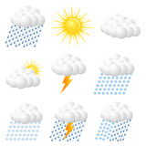 Weather Web  Icons Royalty Free Stock Photography
