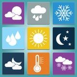 Weather web icons set Stock Photo