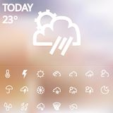 Weather Web Icons Set Stock Images