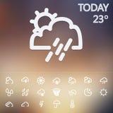 Weather Web Icons Set Stock Images