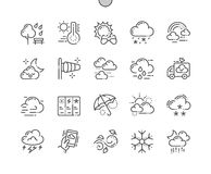 Weather Well-crafted Pixel Perfect Vector Thin Line Icons 30 2x Grid for Web Graphics and Apps. Simple Minimal Pictogram Stock Image