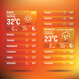 Weather widget app for mobile Stock Image