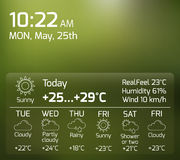 Weather Widget Flat Concept Royalty Free Stock Photos