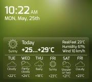 Weather Widget Flat Concept stock illustration