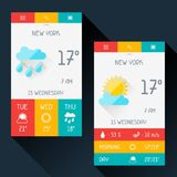 Weather widget in flat design style Stock Photo