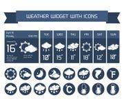Weather widget icons set royalty free illustration
