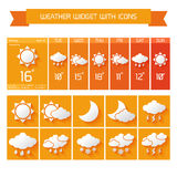 Weather widget icons set Royalty Free Stock Photo