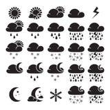 Weather widget interface symbols Royalty Free Stock Image