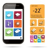 Weather widget template  background. Royalty Free Stock Images