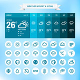 Weather widget and icons Stock Photo