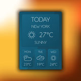 Weather widget Royalty Free Stock Image