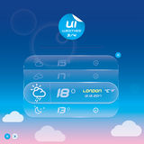 Weather Widget Royalty Free Stock Photography