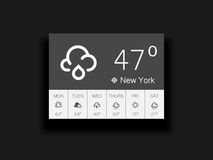 Weather widget Royalty Free Stock Images