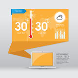 Weather widgets template. Icons and illustrations Stock Photos