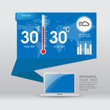 Weather widgets template. Icons and illustrations Stock Photo