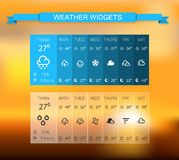 Weather widgets Stock Photos