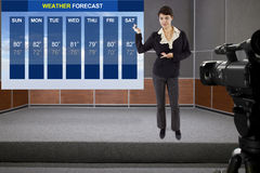 Weather Woman Royalty Free Stock Photo