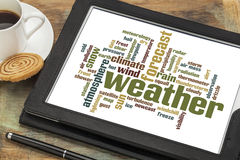 Weather word cloud Royalty Free Stock Images