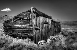 Weather Worn Shack. A very old, very weather worn shack, at Bodie Ghost Town Royalty Free Stock Photo