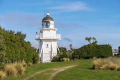 New Zealand Lighthouse. Weatherboard lighthouse at Katiki Point, Otago, New Zealand royalty free stock photography