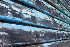 Weatherboards with flaking paint Stock Photo