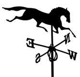 Weathercock del cavallo Fotografia Stock Libera da Diritti