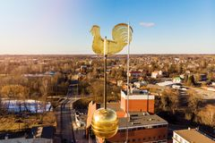 weathercock dourado imagem de stock royalty free
