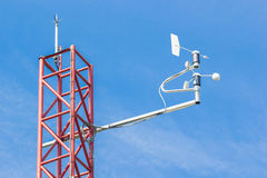 Weathercock of weather station Royalty Free Stock Photo