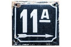 Weathered a émaillé le numéro de plaque 11 Image stock