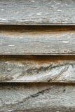 Weathered постарел серая деревянная текстура с строкой ногтей и keyholes Стоковые Изображения