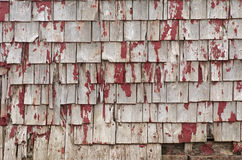 Weathered Roof Shingles. The side of a weathered building on Prince Edward Island, Canada Royalty Free Stock Photography