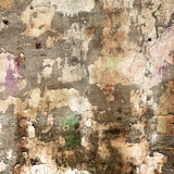 Weathered aged wall with border Royalty Free Stock Images