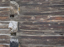 Weathered aged wooden  wall Royalty Free Stock Images