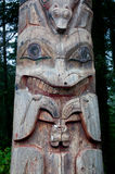 Weathered Alaska Totem Pole Royalty Free Stock Photography