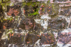 Weathered Ancient Stone Wall Royalty Free Stock Photography