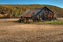 Weathered Barn. Old weathered barn in Autumn Stock Photo