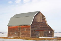Weathered Barn. A large rustic barn with copy space Royalty Free Stock Image