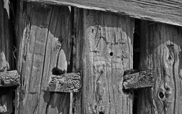 Weathered barn board detail Stock Photography