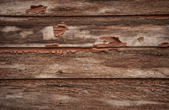Weathered Barn Boards. Brown weathered boards of a barn with peeling paint Royalty Free Stock Image
